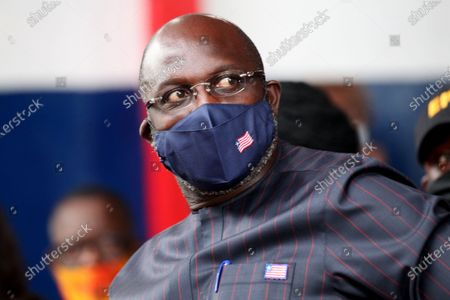 Liberian president, George Weah attends an event to mark World Tourism Day at the providence Island in Monrovia, Liberia, 26 September 2020. World tourism day is celebrated every year 26 September, and Liberia Ministry of Information Cultural Affairs & Tourism show cases the country's cultural heritage, the historic Providence Island (first  point arrival of the freed slaves American Slaves) in observance of International tourism day, aimed at boosting the tourism sector.