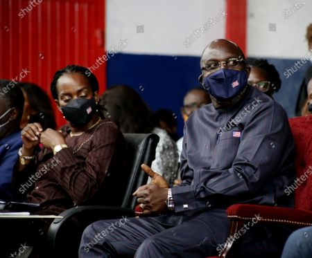 Liberian president George Weah (R), along with First Lady Clar Weah (L), attends an event to mark World Tourism Day on Providence Island in Monrovia, Liberia, 26 September 2020. World Tourism Day is celebrated annually on 26 September. The and Liberia Ministry of Information Cultural Affairs & Tourism held an event to showcase the country's cultural heritage.