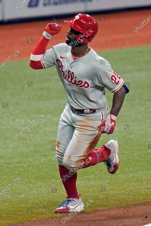 Editorial picture of Phillies Rays Baseball, St. Petersburg, United States - 26 Sep 2020