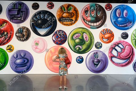 Editorial picture of Kenny Scharf Car Rally, Los Angeles, United States - 26 Sep 2020