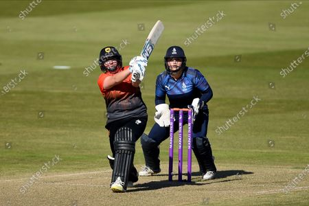 Charlotte Taylor of Southern Vipers batting