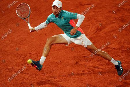 David Goffin during his Men's Singles first round match