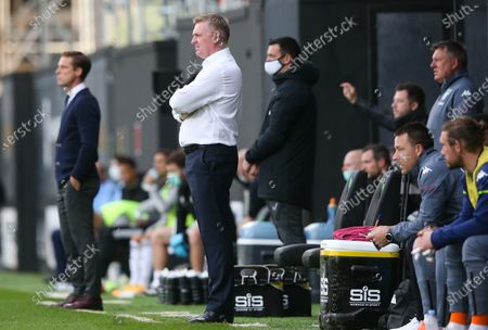Fulham Manager Scott Parker (L) - Dean Smith manager of Aston Villa  (R) - John Terry (R)