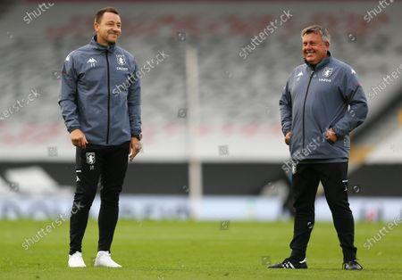 Aston Villa coaches John Terry and Craig Shakespeare