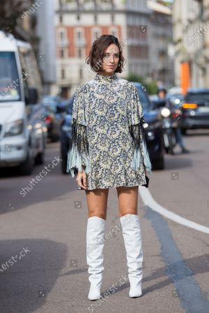 Editorial photo of Street Style, Spring Summer 2021, Milan Fashion Week, Italy - 26 Sep 2020