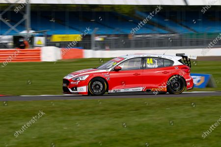 Andy Neate - Motorbase Performance - Ford Focus RS during the Kwik-Fit BTCC at Silverstone National, Towcester. Picture by Chris Wynne