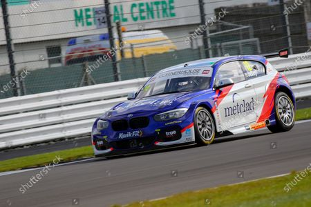 Stephen Jelley - Team Parker Racing - BMW 125i M Sport during the Kwik-Fit BTCC at Silverstone National, Towcester. Picture by Chris Wynne