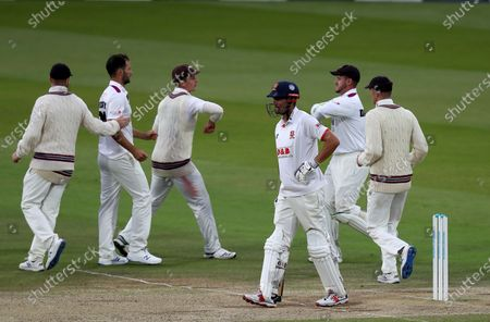 Sir Alastair Cook of Essex walks off having been given out during Somerset CCC vs Essex CCC, Bob Willis Trophy Final Cricket at Lord's Cricket Ground on 27th September 2020