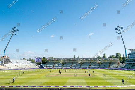 Stock Image of A general view (GV) of the Southern Vipers playing the Northern Diamonds at Edgbaston on the final of the Rachael Heyhoe-Flint trophy final.