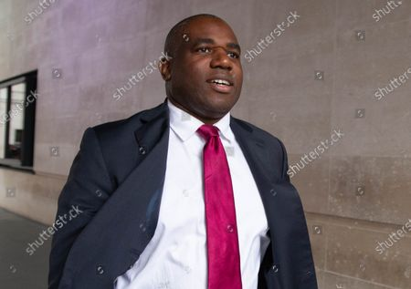 David Lammy, Shadow Justice Secretary, leaves the BBC Studios after appearing on 'The Andrew Marr Show'.