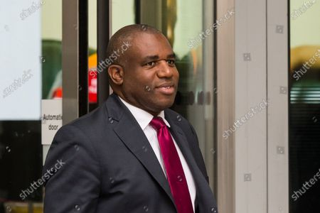 Shadow Justice Secretary David Lammy leaves the BBC Broadcasting House in central London after appearing on The Andrew Marr Show.