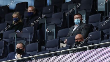Stock Picture of Tottenham' chairman Daniel Levy (R) sits on the stands during the English Premier League soccer match between Tottenham Hotspur and Newcastle United in London, Britain, 27 September 2020.