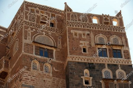 A general veiw shows the tourist site of the Dar al-Hajar (Rock Palace) on World Tourism Day at the village of Wadi Dhahr on the outskirts of Sana'a, Yemen, 27 September 2020. The historical five-storey palace of Dar al-Hajar (Rock Palace), one of Yemen's most popular tourist destinations, was built in 1786 AD, perching atop a rock pinnacle on the outskirts of Sana'a. World Tourism Day is commemorated each year on 27 September with this year's theme focusing on 'Tourism and Rural Development'.