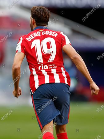 Diego Costa of Atletico de Madrid celebrates after scoring the 1-0