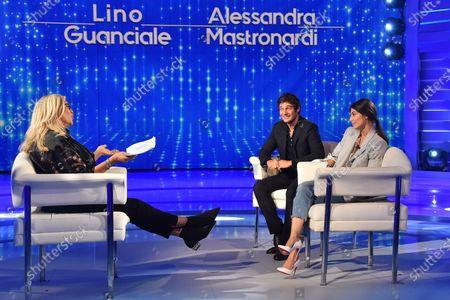 Mara Venier, Lino Guanciale, Alessandra Mastronardi