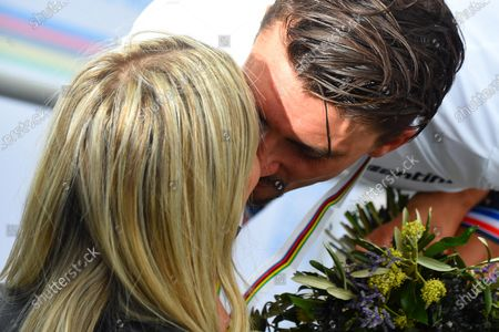 Frances Julian Alaphilippe Celebrates His Girlfriend Marion Editorial Stock Photo Stock Image Shutterstock
