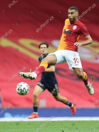Galatasaray's Younes Belhanda in action during the Turkish Super League soccer match between Galatasaray and Fenerbahce in Istanbul, Turkey, 27 September 2020.