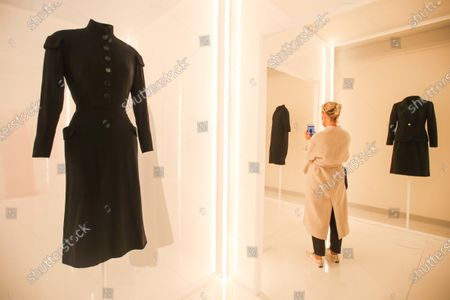 Creations designed by Tunisian fashion designer Azzedine Alaia (L) and Spanish fashion designer Cristobal Balenciaga (R) are displayed during the 'Alaia et Balenciaga - Sculpteurs de la forme' exhibition at Azzedine Alaia Foundation in Paris, France, 27 September 2020. The 2020 Paris Fashion Week runs from 28 September to 06 October 2020.
