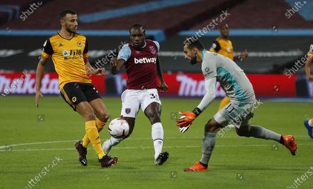 Editorial image of West Ham United vs Wolverhampton Wanderers, London, United Kingdom - 27 Sep 2020