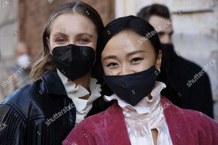 Stock Photo of Beatrice Vendramin and Niki Wu
