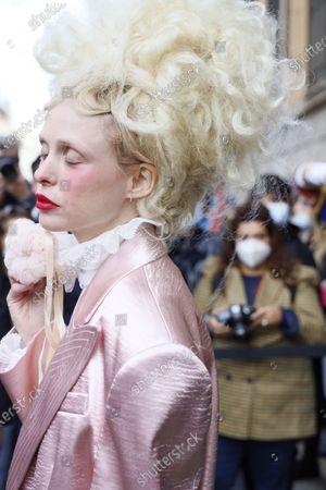 Editorial photo of Philosophy by Lorenzo Serafini show, Arrivals, Spring Summer 2021, Milan Fashion Week - 26 Sep 2020