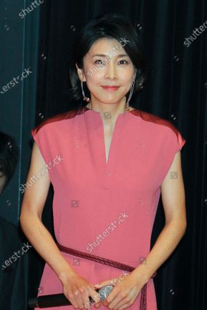 Stock Picture of FILE: Japanese actor Yuko Takeuchi was found dead at her home in an aparent suicide.   Photo taken March 12, 2018 in Tokyo, Japan to promote drama series.