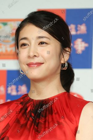Stock Photo of FILE: Japanese actor Yuko Takeuchi was found dead at her home in an aparent suicide.  Photo taken August 26, 2019 in Tokyo, Japan for commercial.