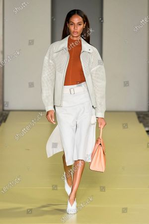 Editorial photo of Salvatore Ferragamo show, Runway, Spring Summer 2021, Milan Fashion Week, Italy - 26 Sep 2020