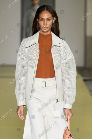 Stock Picture of Joan Smalls on the catwalk