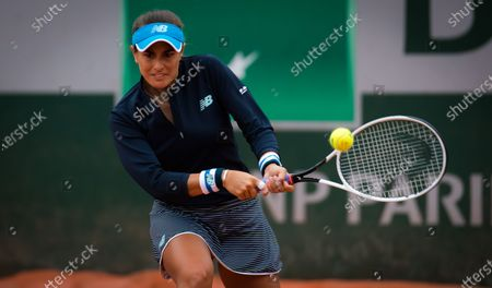 Stock Photo of Monica Puig of Puerto Rico in action during the first round at the 2020 Roland Garros Grand Slam tennis tournament