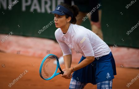 Tsvetana Pironkova of Bulgaria in action during the first round at the 2020 Roland Garros Grand Slam tennis tournament