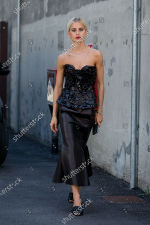 Editorial picture of Street Style, Spring Summer 2021, Milan Fashion Week, Italy - 27 Sep 2020