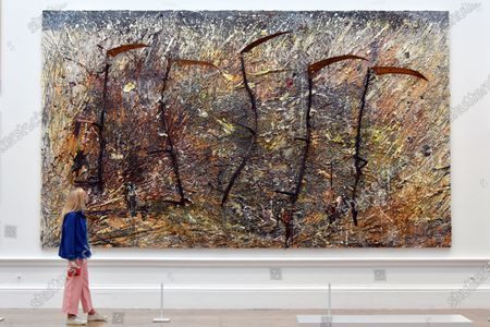 Anselm Kiefer, Vier Plus Eins, at Royal Academy of Arts Summer Exhibition