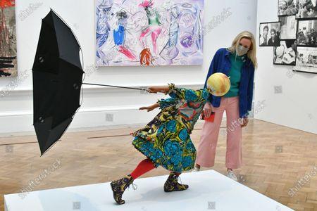 Yinka Shonibare, Air Kid (Girl), at Royal Academy of Arts Summer Exhibition