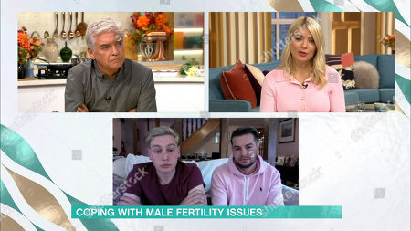 Stock Photo of Holly Willoughby, Phillip Schofield, Ben Hughes, Chris Hughes