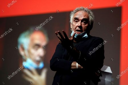 Spanish chef and elBulliFoundation president Ferran Adria takes part in the opening day of the first edition of the Food and Hospitality, Tourism and Gastronomy (FHG) Forum in Barcelona, Spain, 28 September 2020. The FHG Forum, which aims to tackle future challenges for the agri-food industry and its value chain, hospitality, hotels, contract catering, and tourism, will be held in Barcelona on 28 and 29 September 2020.