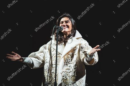 Stock Picture of The Italian pop/rock singer Elisa (real name Elisa Toffoli) performing live for the closing concert at the Anima Festival 2020.
