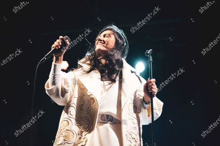 Stock Image of The Italian pop/rock singer Elisa (real name Elisa Toffoli) performing live for the closing concert at the Anima Festival 2020.