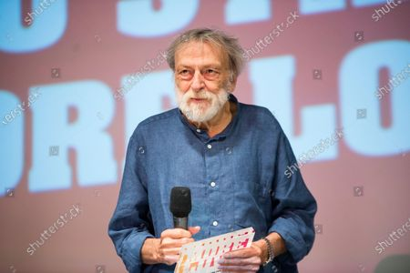 Stock Image of Gino Strada at the 2020 Mix Festival in Milan, the LGBTQ + film festival with a selection of the best independent gay, lesbian, trans and queer films.