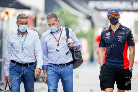 Max Verstappen (NEL#33), Aston Martin Red Bull Racing and Jos Verstappen