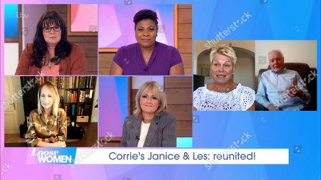 Stock Photo of Coleen Nolan, Brenda Edwards, Carol McGiffin, Jane Moore, Vicky Entwistle, Bruce Jones