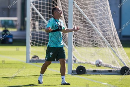 Andres Guardado during training of Real Betis Balompie at Luis del Sol Sport City on September 28, 2020 in Sevilla, Spain.