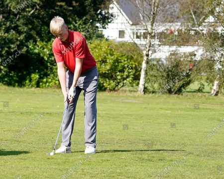 Sam Jackson in action during the Junior European Open Regional Finals at Swansea Bay Golf Club.