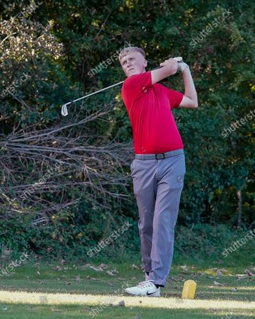Stock Picture of Sam Jackson in action during the Junior European Open Regional Finals at Swansea Bay Golf Club.