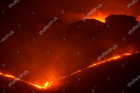 Stock Image of The Shady Fire impacts homes in the Skyhawk community as firefighters battle the Shady Fire on Monday, Sept. 28, 2020 in Santa Rosa, CA. (Kent Nishimura / Los Angeles Times)