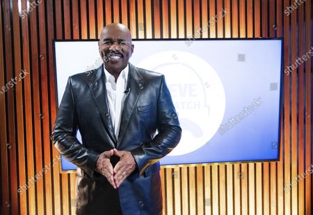 "Stock Picture of Steve Harvey poses for a portrait on in Atlanta. Harvey says his daytime talk show being canceled by NBC opened up new doors with Facebook Watch. The comedian launched ""Steve on Watch"" on the streaming platform"