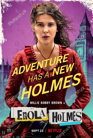 Enola Holmes (2020) Poster Art. Millie Bobby Brown as Enola Holmes