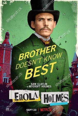 Enola Holmes (2020) Poster Art. Sam Claflin as Mycroft Holmes