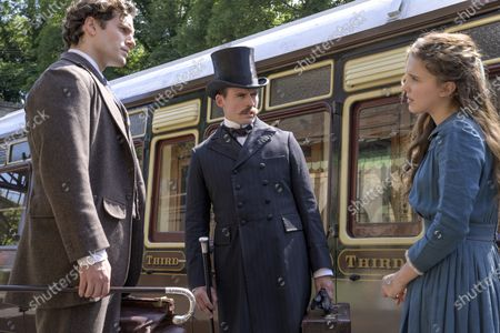 Henry Cavill as Sherlock Holmes, Sam Claflin as Mycroft Holmes and Millie Bobby Brown as Enola Holmes