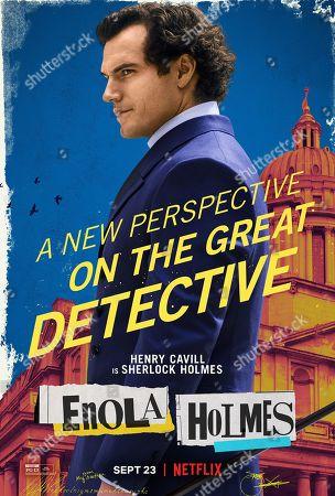 Enola Holmes (2020) Poster Art. Henry Cavill as Sherlock Holmes